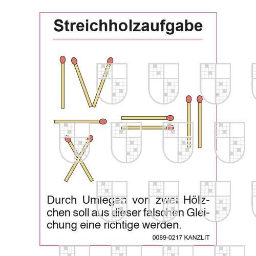 0089-0217 Streichholzaufgaben online Rätsel kaufen