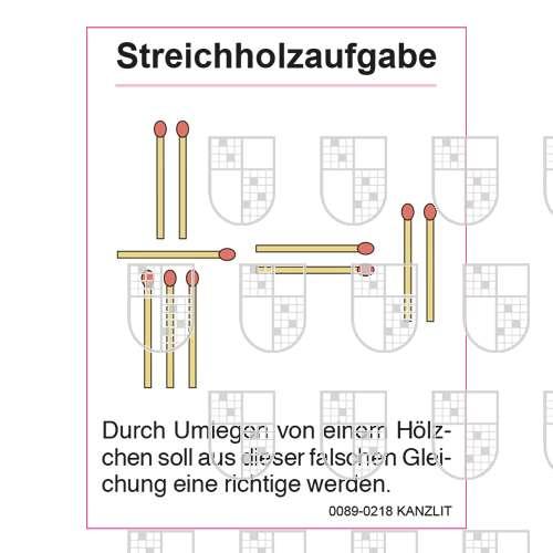 0089-0218 Streichholzaufgaben online Rätsel kaufen