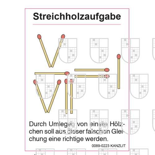 0089-0223 Streichholzaufgaben online Rätsel kaufen