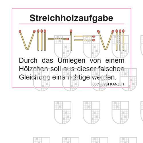 0089-0224 Streichholzaufgaben online Rätsel kaufen