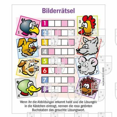 0101-0249 Bilderrätsel Kinderrätsel online Rätsel kaufen
