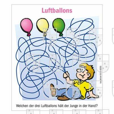 0101-0255 Luftballons Kinderrätsel online Rätsel kaufen