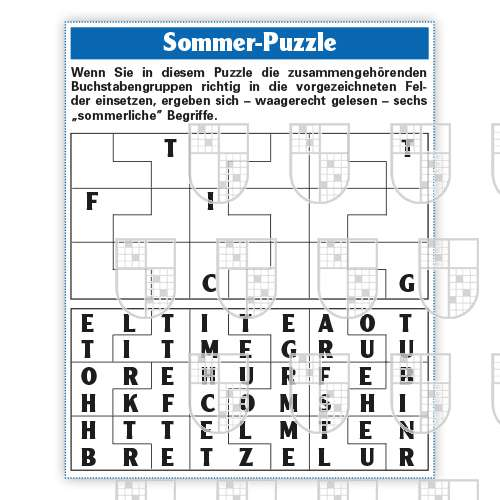0638-0002 Sommer Puzzle