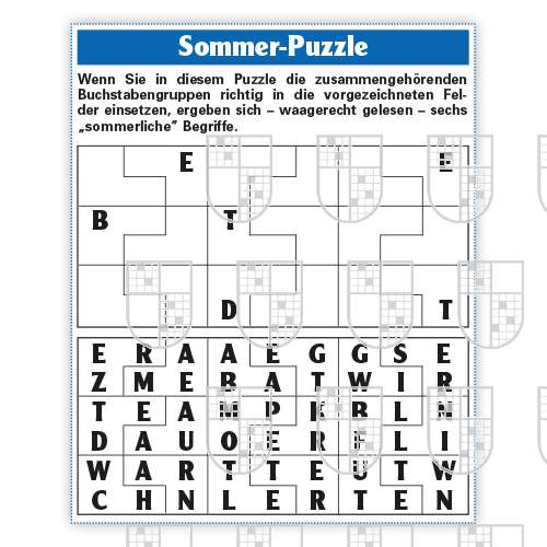 0638-0008 Sommer Puzzle