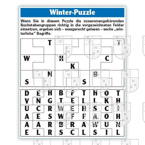 0638-0011 Winter Puzzle