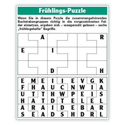 0638-0012 Frühlings Puzzle