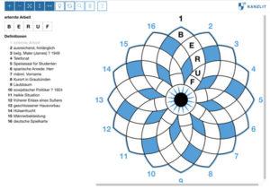Online-Kreuzwort-Rose Kanzlit Rätsel Anbieter