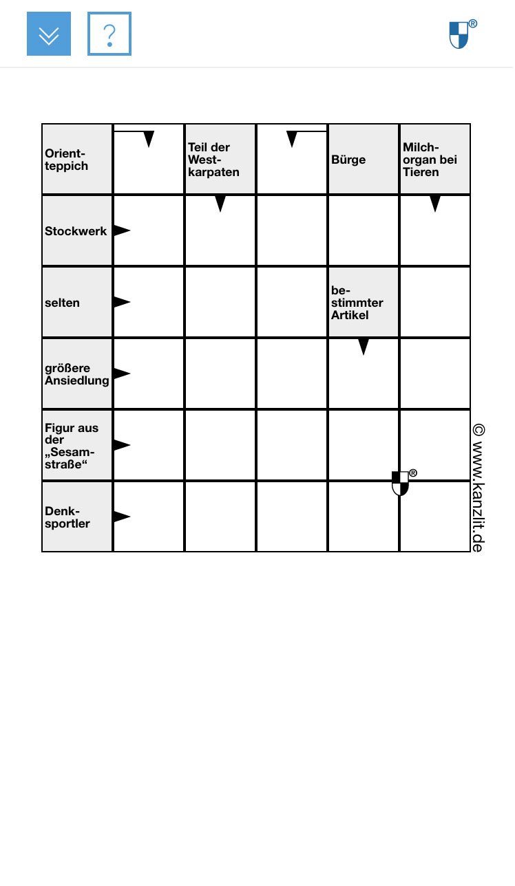 Schwedenraetsel-Kreuzwortraetsel-6x6-mobil Responsiv Rätsel Online Rätsel