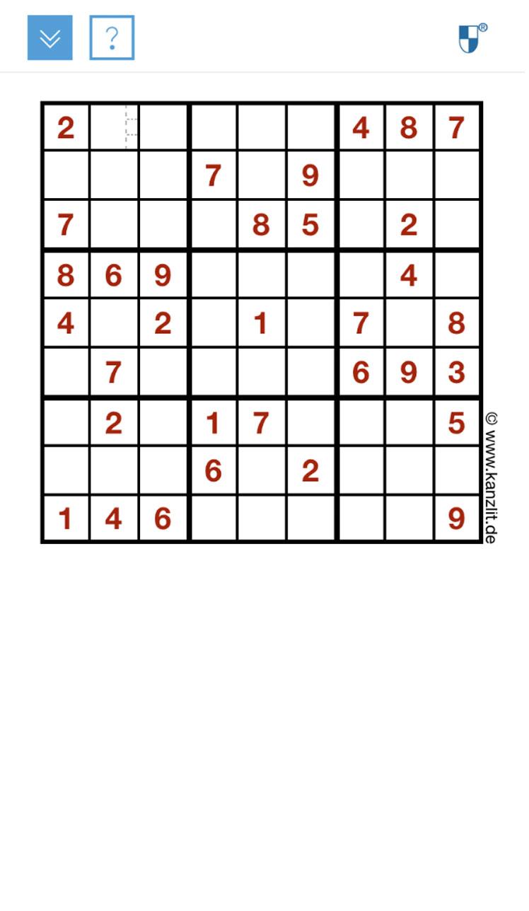 Sudoku-mobil Responsiv Rätsel Online Rätsel