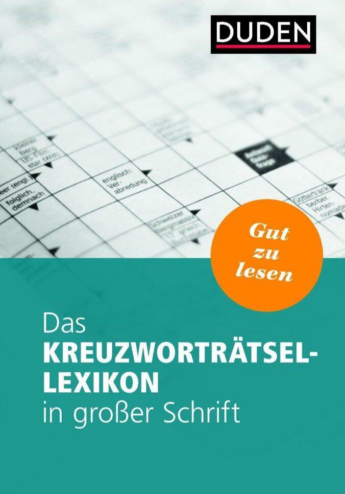 Das Kreuzworträtsel Lexikon in großer Schrift – Unsere Kooperation mit Duden