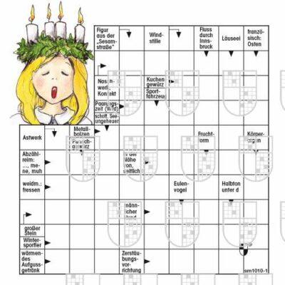 Weihnachtsrätsel mit Motiv Lucia